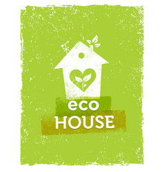 eco house organic creative on vector image