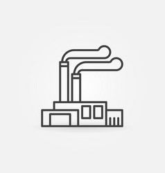 Factory and plant icon vector
