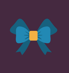 Festive bow icon vector