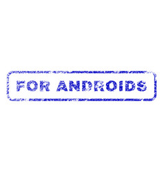 For androids rubber stamp vector