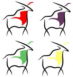 four goats vector image