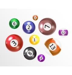 Ivories Billiard Balls Set vector image vector image