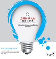 light bulb with infographics Modern template vector image vector image