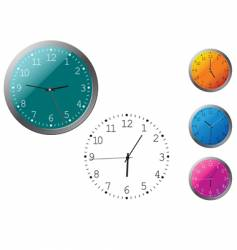office clocks in different colors vector image vector image