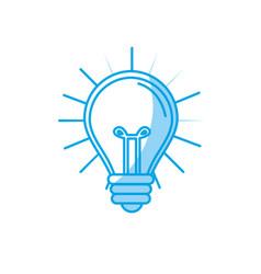 Silhouette light bulb idea to creative invention vector