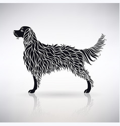 silhouette of a stylized dog vector image vector image