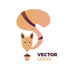 Squirrel concept vector