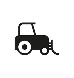 tractor icon on white background vector image vector image