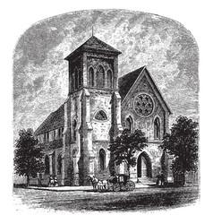 trinity church vintage vector image vector image