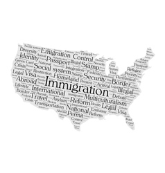 United states immigration word cloud vector