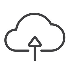 upload to cloud line icon web and mobile vector image vector image