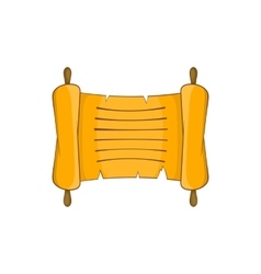 Ancient scroll icon in cartoon style vector