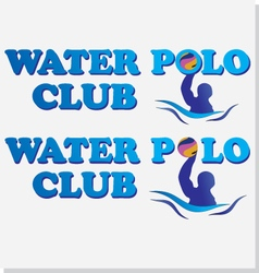 Waterpolo club vector image