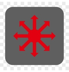 Radial arrows rounded square button vector