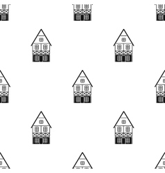 Bavarian house icon in black style isolated on vector
