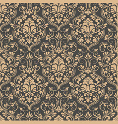 Damask seamless pattern background classical vector