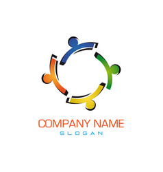 Colorful family logo vector