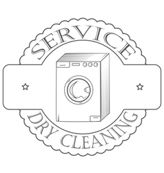 Cervice dry cleaning vector