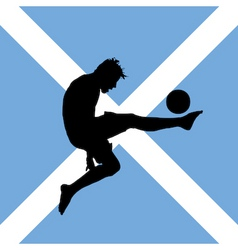 Football player with scottish flag vector