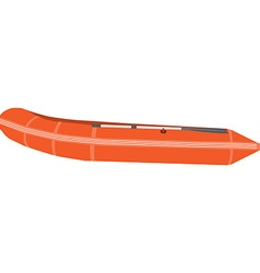 Orange boat vector