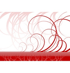 Swirl background in red color vector