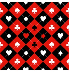 Card suit chess board red black white vector