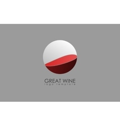 Wine logo alcohol logo red creative logo vector