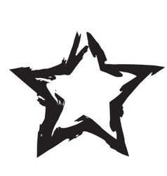 Star patriot symbol grunge shape vector