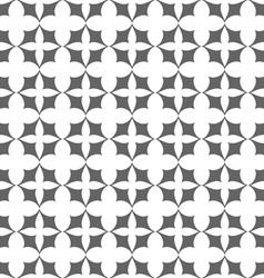 Seamless monochrome stylized flowers pattern vector image