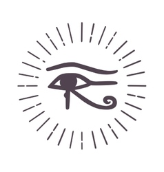 Esoteric eye symbol vector