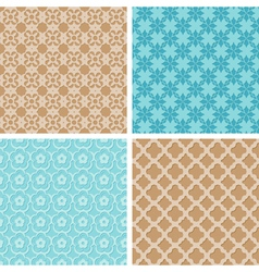 abstract lacy seamless patterns vector image
