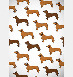 awesome greeting vertical card with dogs breed vector image vector image