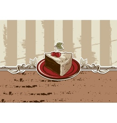 cake piece vector image vector image