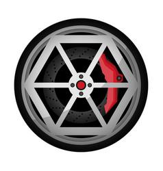 car titanium rim icon vector image vector image