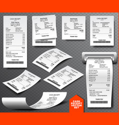 cash register sale receipt printed on thermal vector image vector image