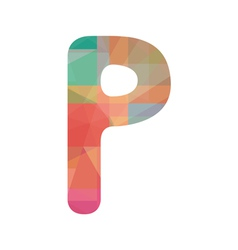 Colorful alphabet P vector image