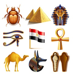 Egypt icons set vector image