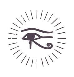 Esoteric eye symbol vector