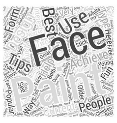 Face painting word cloud concept vector