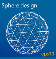 global wireframe sphere eps10 vector image vector image