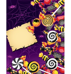 Halloween candy card vector image vector image