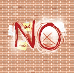 Inscription spray on brick wall vector