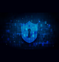 internet security and technology concept vector image