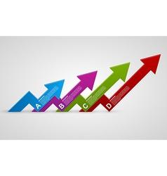 Modern 3d arrows infographic design template vector