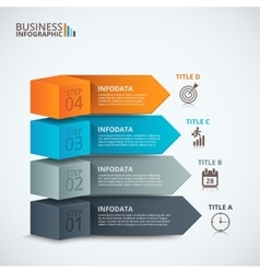 Modern business step options vector image vector image