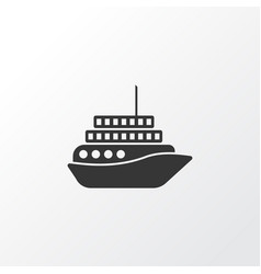 motorboat icon symbol premium quality isolated vector image