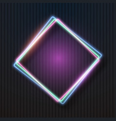 neon sign glowing neon frame vector image vector image