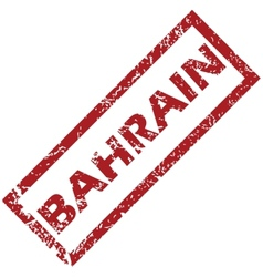 New bahrain rubber stamp vector