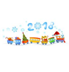 New year train vector