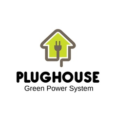 Plug house design vector